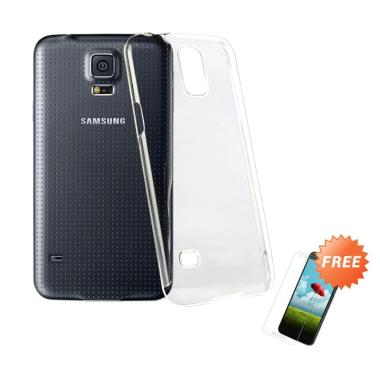OEM Crystal Hardcase Casing for Samsung Galaxy S5 G900 - Clear + Free Tempered Glass
