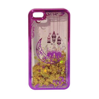 OEM Water Glitter Aquarium Motif Ru ... Phone 5 or 5s - Pink Gold