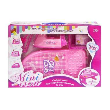MOMO Mini Iron Mainan Meja Setrika - Pink