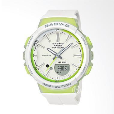 CASIO Baby-G BGS-100-7A2 Step Tracker Jam Tangan Wanita - White Green
