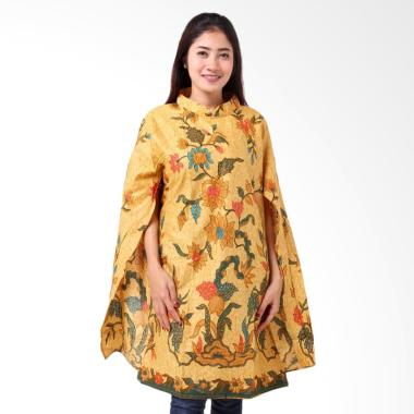 Batik Distro BA8816 Tunik Kaftan Blus Wanita - Kuning