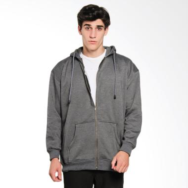 Papercut Men Dixon Hoodie Zip Jaket Pria - Dark Misty