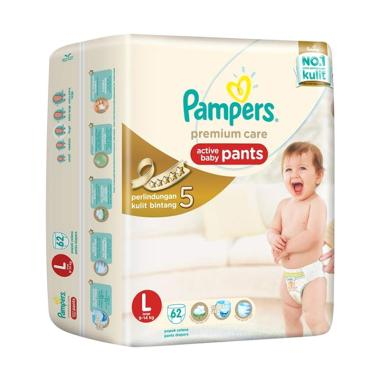 Pampers Premium Care Pants Popok Bayi Celana [L/62 pcs]