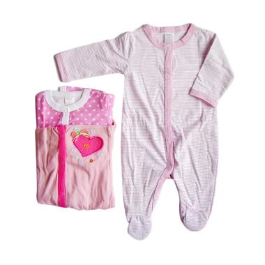 Next Bean Sleepsuit Piyama Girls - Multicolor [3 pcs/3 Months]