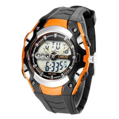 Diray Waterproof Silicone Luxury LE ... Tangan - Orange [WT02000]