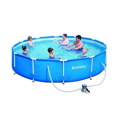Bestway Steel Pro Frame Pool 366 with Water Filter Kolam Renang