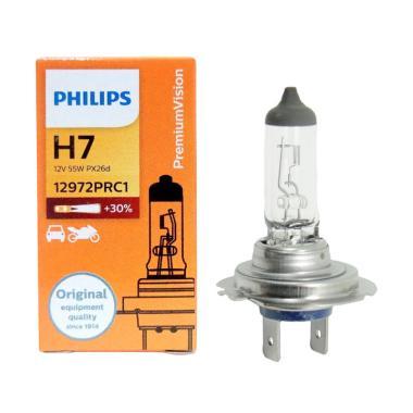 PHILIPS Premium Vision H7 Lampu Halogen Mobil Standard