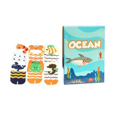 Happy Toes Socks Kaos Kaki Bayi - Ocean [6 Packs]