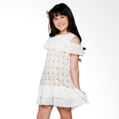 Coterie Applique with Ciffon Combination Dress Anak - Gold