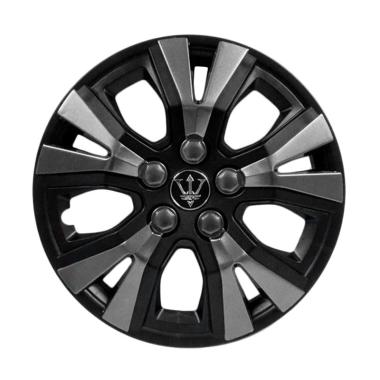 SIV WAY-1GR-14 Inch Sport Wheel Cov ... p Roda Mobil - Black Grey