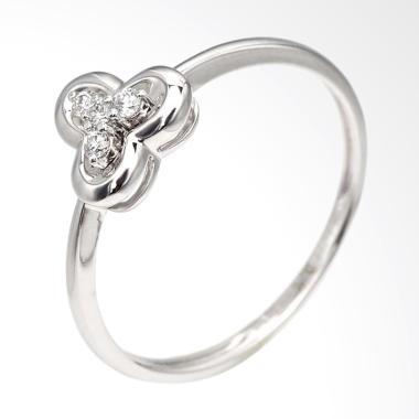 Tiaria Clover Ring Perhiasan Cincin Tunangan Emas dan Berlian [18K]