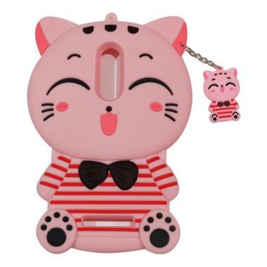 VR Silikon 3D Boneka Animasi Smile Cat Kucing Pink Softcase Casing for  Xiaomi Redmi Note 4 - Pink 3be38b2253