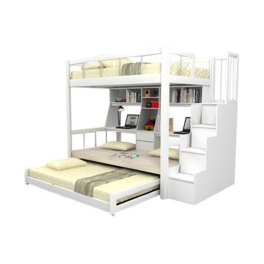 Funkids Nouva 01-120 TL Tempat Tidur Anak - White