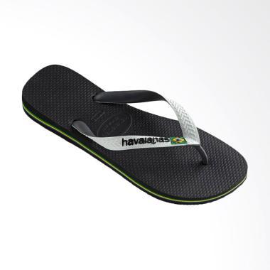 Havaianas Brasil Mix 0133 Sandal Flip Flop Unisex - Black White