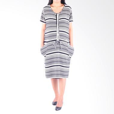 HMILL D1402 Dress Hamil Menyusui - Hitam