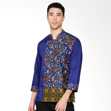 Chef Series Topaz Batik Tangan Panjang Baju Koki - Biru [Size XL]