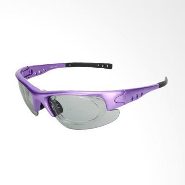 Eyewear Photochromic Lens Sports Sunglasses for Unisex - Violet