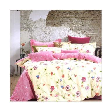 Melia Bedsheet J-3756 Katun Jepang Bed Cover - Floral Print
