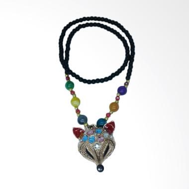 Robagin PW 30 Kepala Musang Aksesoris Kalung Wanita - Multicolor