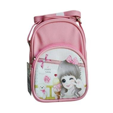 Bodan 0930020475 Girly Sling Bag Tas Sekolah Anak - Baby Pink