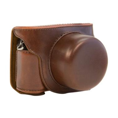 Nikon Leather Case for Kamera Mirrorless 1 J5 - Coklat Tua