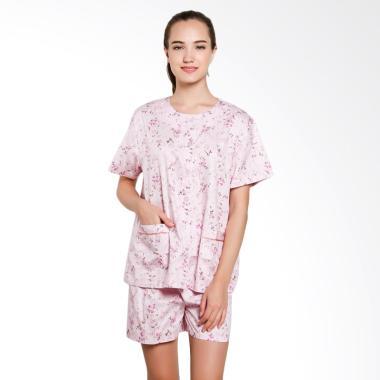Just Fashion Katun Piyama Baju Tidur - Pink