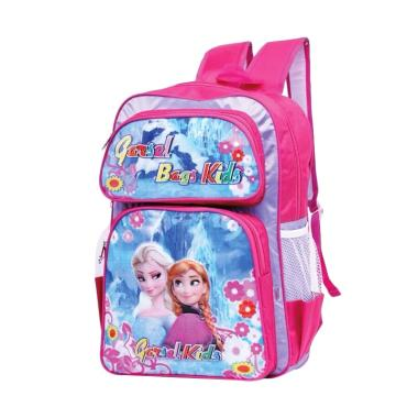 Garsel Frozen Backpack Tas Sekolah Anak Perempuan - Blue Pink