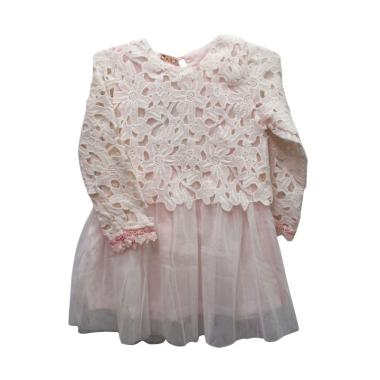 Import Kids 9830 Dress Anak - Soft Pink