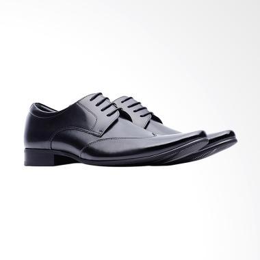 Life8 Leather Formal Sepatu Pria - Black [09705]