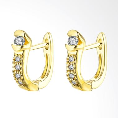 SOXY Fashion AKE132 K Gold Diamond Earrings Plated with Gold