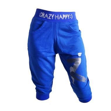 Mom Crazy Jogger Zumba Celana Legging Wanita - Blue