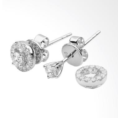 LINO P1708250053 Anting Berlian Emas Putih [18K VVS]