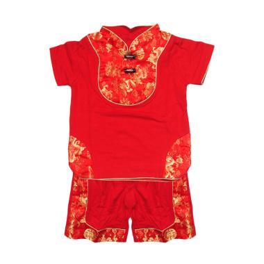 Eyka 4259 Re Tazel Toddler Imlek Setelan Baju Anak - Red