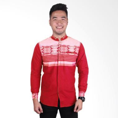 Fayruuz Baju Koko Pria - Merah XL Red M Red