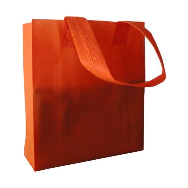 HBS Spunbond Polos Tas Kain Goodie Bag - Orange [25 x 35 x 9 cm]