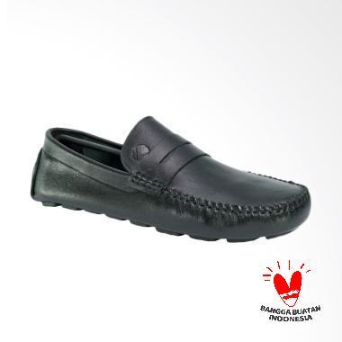 LISMEN Delta Moccasin Sepatu Kulit Pria - Hitam [WJB-03]