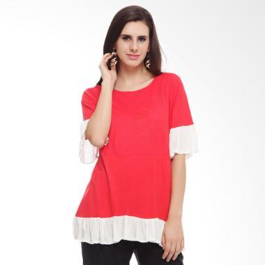 Baju Island Lula Nursingwear Baju Menyusui - Red Kombinasi