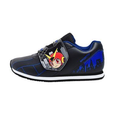Ardiles Kids Megabot Back To School Sepatu Anak Laki-Laki - Hitam Biru