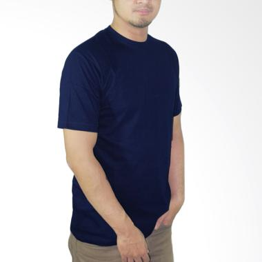 Nazoela Clothing Kaos Polos Pria - Blue Navy