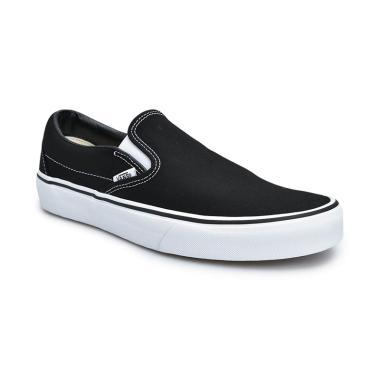 Sneakers Vans U Originals Classic Slip-on Sepatu Pria - Black White