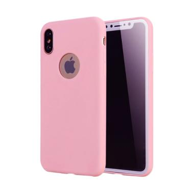 0597a307 Lize Design iPhone X Case Slim Pink Matte Silikon Casing for Apple iPhone X  Case Matte / Ultrathin / Jelly Case - Pink