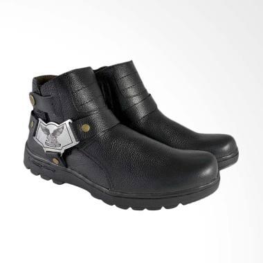 CBR Six Sepatu Boot Pria - Hitam [CBX-RDC 855]