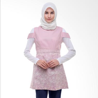 Arya Putri Batik Gowri ATM-014-PW Atasan Muslim Wanita - Pink