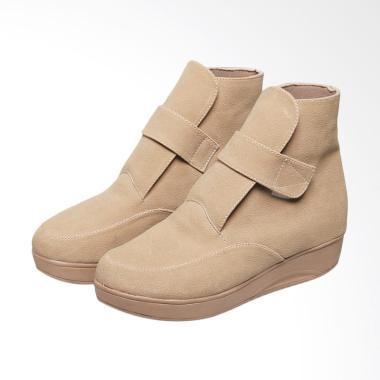 Syaqinah 038 Sepatu Boots Wanita - Cream