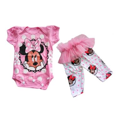 Best Design Minnie Jumpsuit Anak - Pink