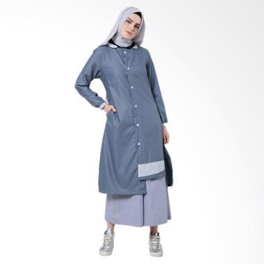 SYAHEERA Tabby Tunik Atasan Muslim Wanita - Blue Denim