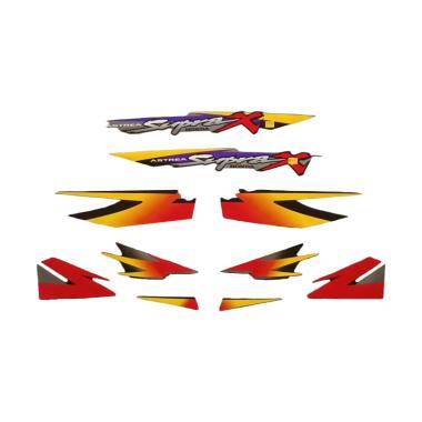 harga Idola Striping Aksesoris Body Motor for Supra X 2000 - Hitam Merah Blibli.com