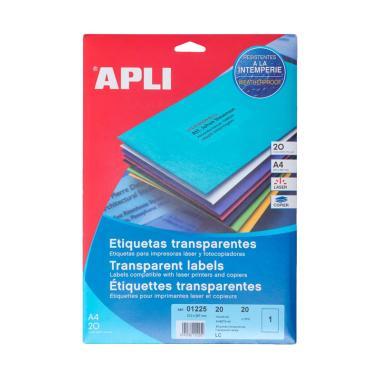 APLI #01225 Polyester Transparent Label Sticker [210 x 297MM 20 Unit]
