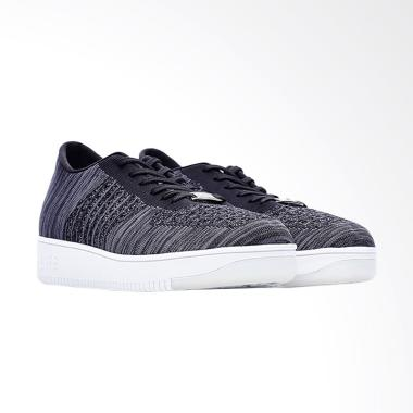 Life8 Casual Knit Skateboard Trainer Shoes Pria - Black [09562]