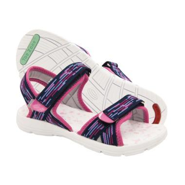 Toezone Kids Curtis Yt Flora Sepatu Sandal Anak Perempuan - Navy